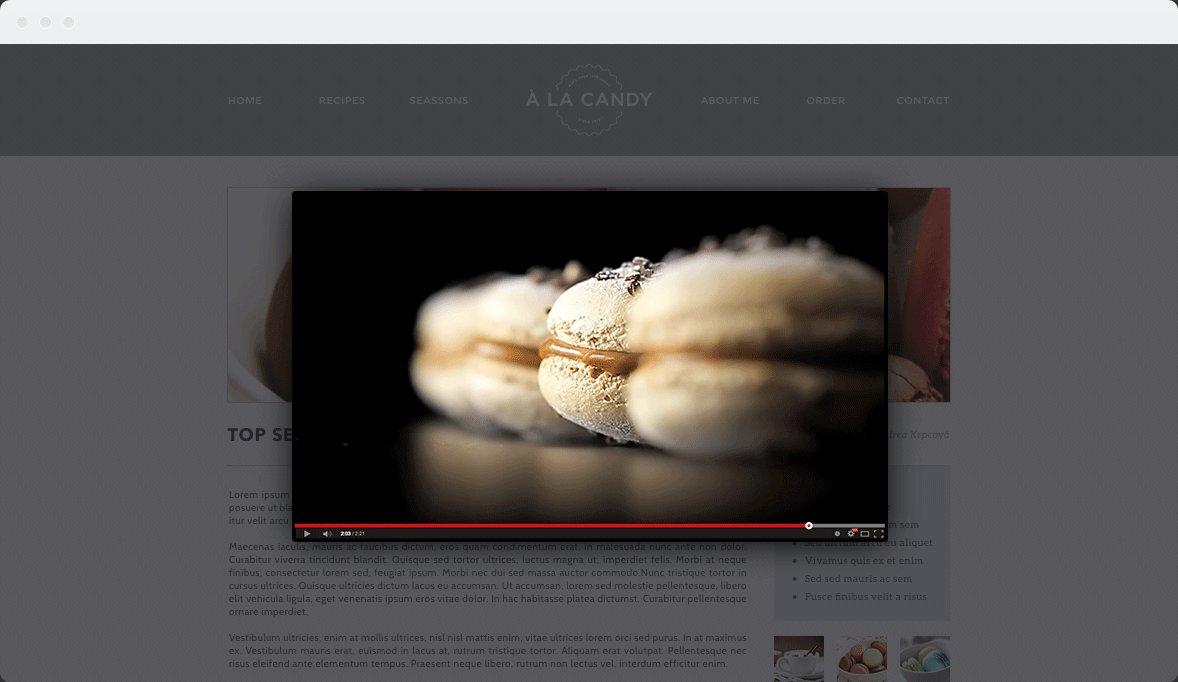 Screenshot Desktop Design À la Candy 3
