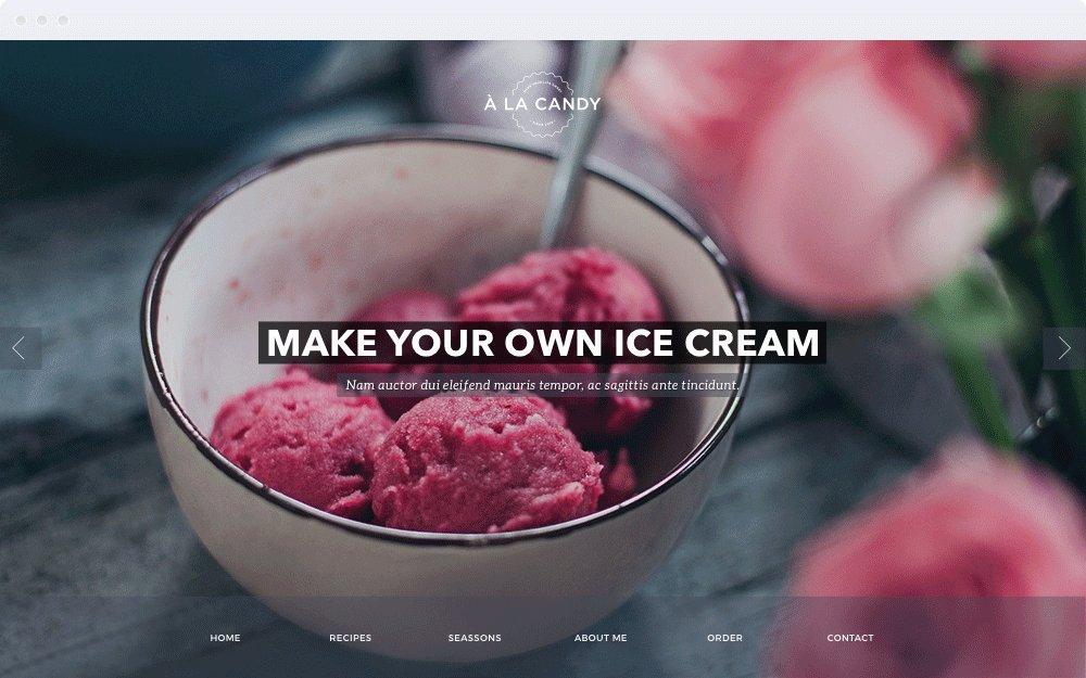 Screenshot Design À la Candy