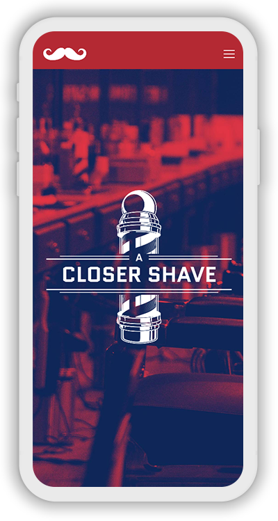 Barber Shop Template Mobile Screenshot 1