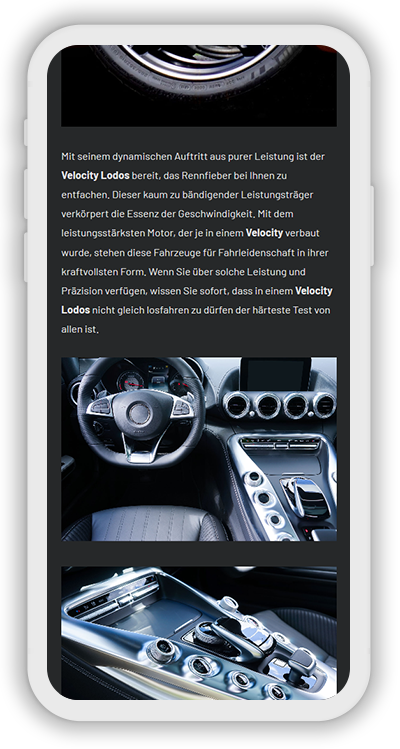 Cars Template Mobile Screenshot 3