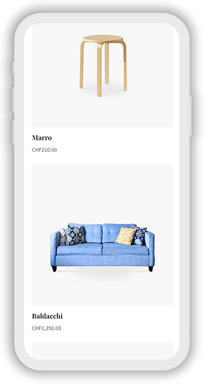 Furniture Template Mobile Screenshot 3