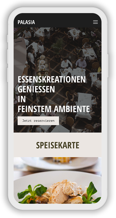 Restaurant Template Mobile Screenshot 1