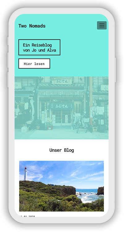 Travel Template Mobile Screenshot 1