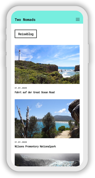 Travel Template Mobile Screenshot 2